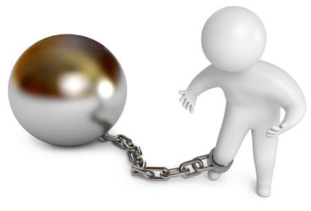 shackled: El hombre encadenado, preso prisi�n, procesamiento 3d