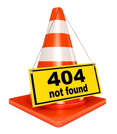 ooops: Concept 404 error on white background, Page not found
