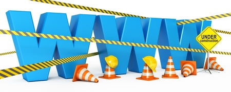 under construction: Web page is under construction, 3d render Stock Photo