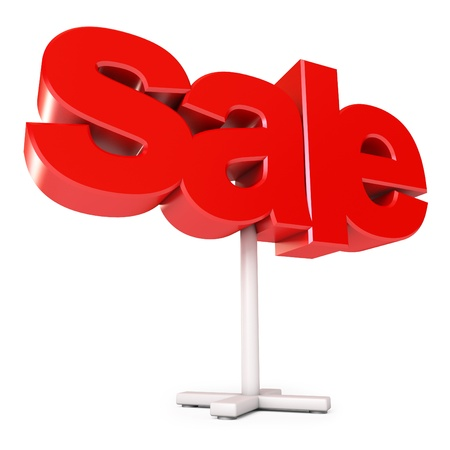 Sale sign, Isolated on white background, 3d render Stock Photo - 17041173