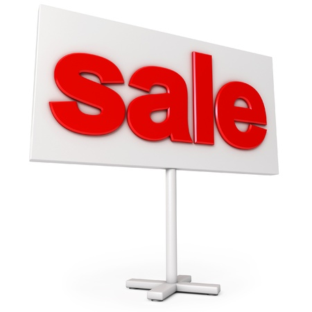 Sale sign, Icon isolated on white background, 3d render Stock Photo - 17040667