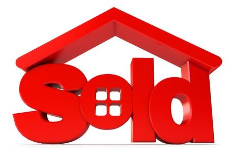 Wohnungsbau zum Verkauf, Icon isoliert auf weißem Hintergrund