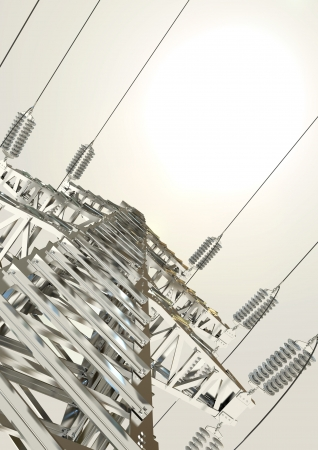 Power Transmission Line, High-voltage tower Stock Photo - 17041291