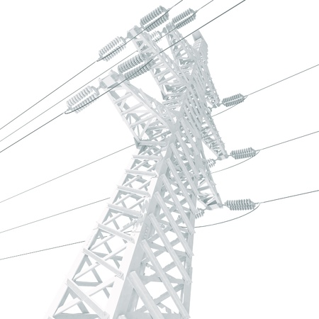 electricity substation: Power Transmission Line Stock Photo