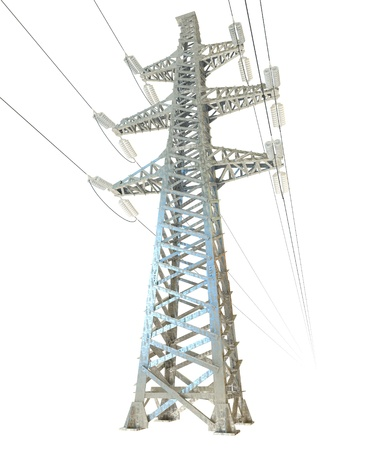 isolator high voltage: High voltage post Stock Photo