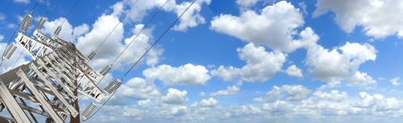 Power Tower, Blue sky and clouds for background, Panorama Stock Photo - 17040611
