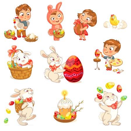 eggshells: Im�genes felices de Pascua Vectores
