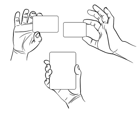 interpretations: Hands in different interpretations  Vector illustration  Isolated on white background Illustration