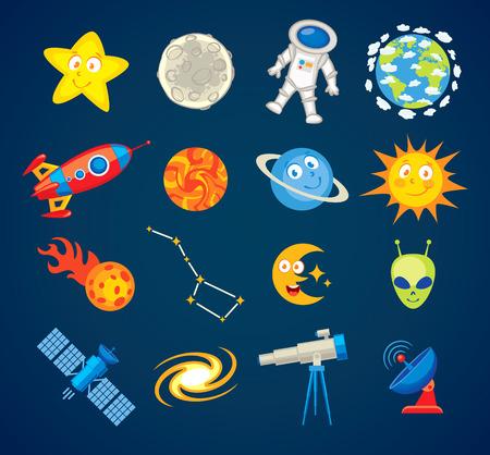 ursa: Trendy astronomy icons. Illustration