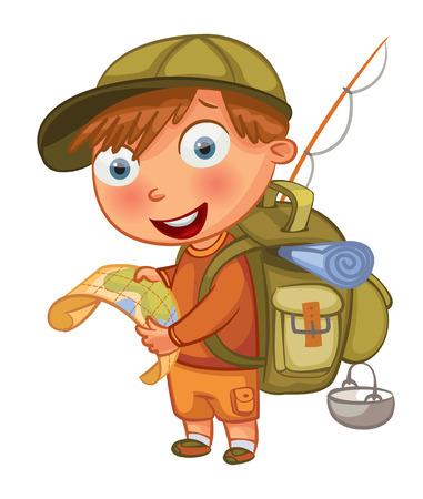 mochila viaje: Personaje de dibujos animados BoFunny.