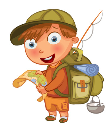 campamento: Personaje de dibujos animados BoFunny.