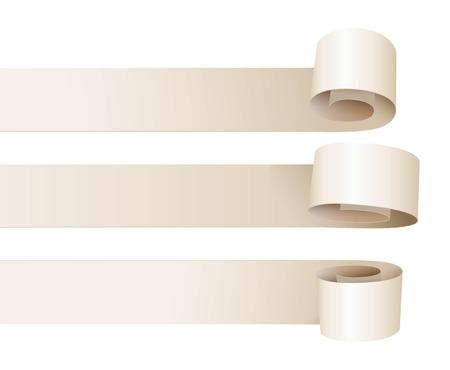 paper curl: Curvatura del papel blanco.