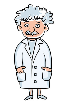 theory of relativity: Scientist illustration.