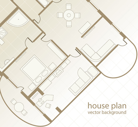 furniture detail: House Plan Architectural background.