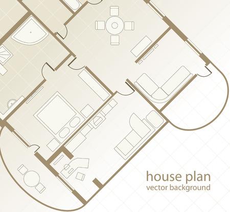 plan maison: Maison Plan de fond architectural. Illustration