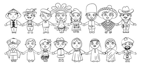 tolerance: Nationalities  Coloring book.