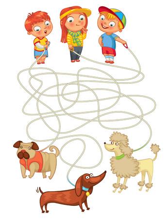 laberinto: Divertido juego de laberinto: ayudar a los propietarios a encontrar a sus mascotas.