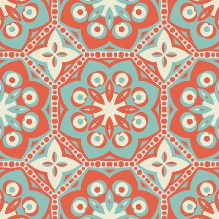 swatch book: seamless vintage pattern.  Illustration