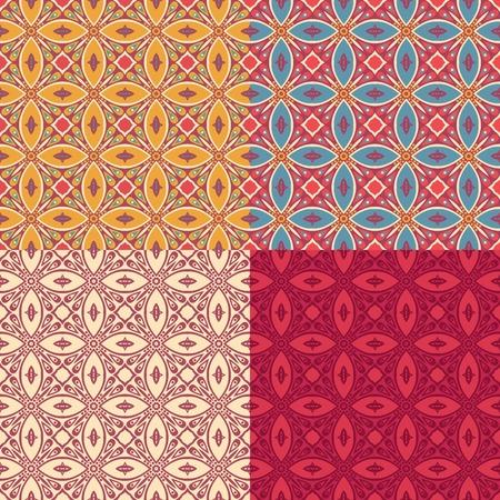 ligature: Vintage set elements for seamless patterns.