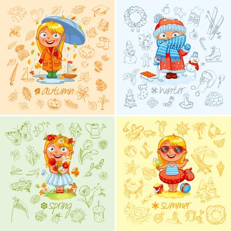 estaciones del año: Bebé y las cuatro estaciones.