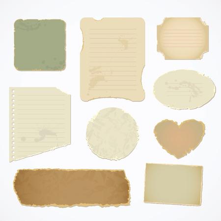 parchemin: Papier d�chir� avec un espace pour le texte.