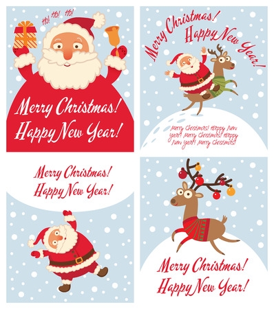 rudolph: Santa Claus and Christmas reindeer.