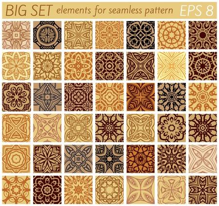 ligature: Big set elements for samples patterns Illustration