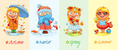 Baby girl and the four seasons.