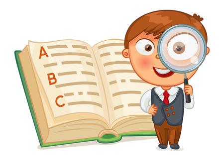 preguntando: Colegial est� buscando palabras en la enciclopedia.