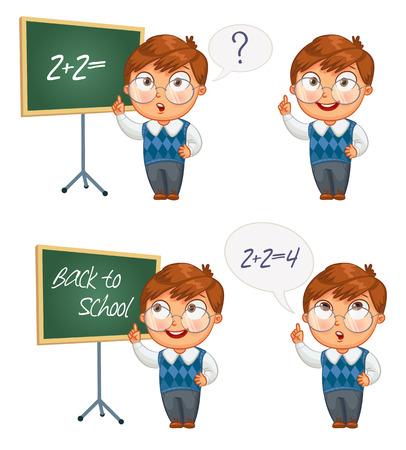 ni�os pensando: Volver al concepto de ilustraci�n de la escuela