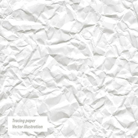 crumpled: Crumpled white paper.