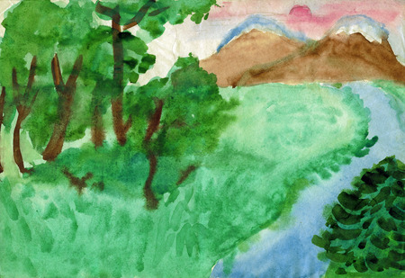childrens': Childrens drawings Landscape