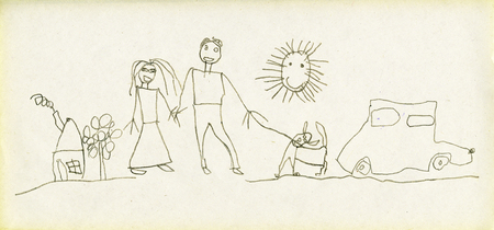 childish: Childrens drawings Family