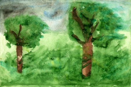 palitra: Childrens drawings Landscape