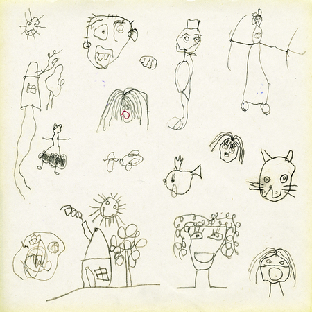 pencil and paper: Childrens drawings