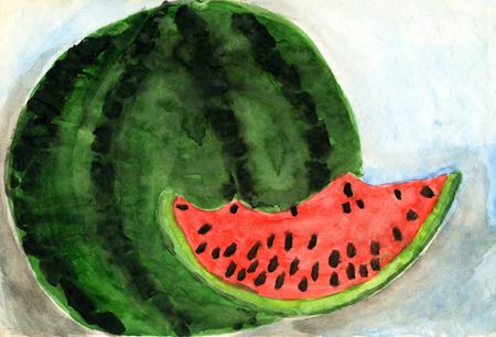 palitra: Childrens drawings Watermelon