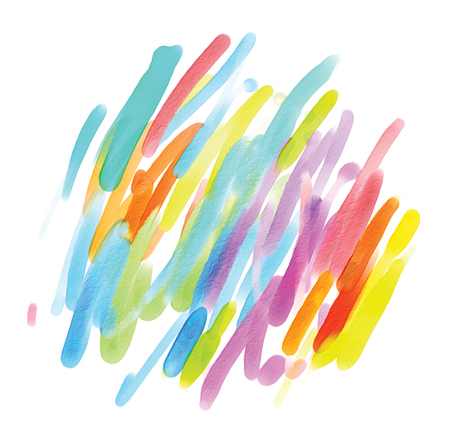 splotches: Abstract watercolor painting. Blot. Blurred spot. Blob. Freehand drawing. Isolated on white background Stock Photo