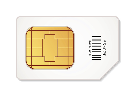 sim card: Sim card icon. Vector illustration. Conceptual illustration. Isolated on white background