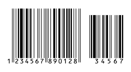 codebar: Barcode. Vector illustration. Conceptual illustration. Isolated on white background