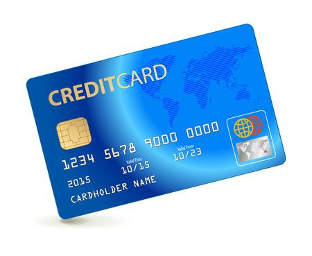 Tarjeta de crédito. Ilustración conceptual. Ilustración del vector. Aislado en el fondo blanco