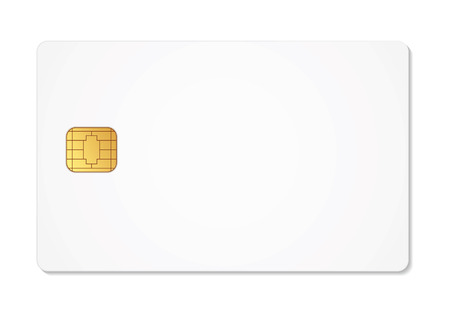 gsm phone: Blank sim card. Vector illustration. Conceptual illustration. Isolated on white background