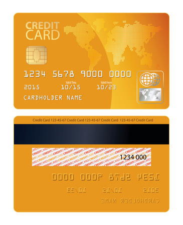 Credit card. Vector illustration. Conceptual illustration. Isolated on white background
