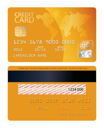 tarjeta de credito: Tarjeta de crédito. Ilustración del vector. Ilustración conceptual. Aislado en el fondo blanco