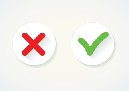 yes or no: Yes or No. Vector icon