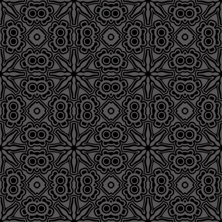 black damask: Vector seamless vintage pattern Illustration