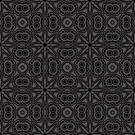 abstract black: Vector seamless vintage pattern Illustration
