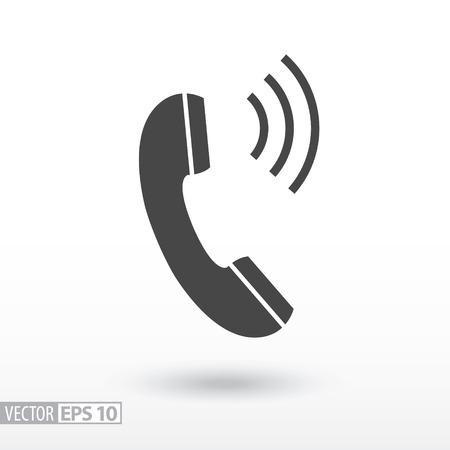 Phone flat Icon. Sign Phone. Vector logo for web design, mobile and infographics. Vector illustration eps10. Isolated on white background.