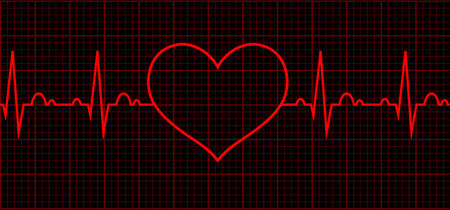 Heart beat cardiogram. Sign Cardiac cycle. Vector logo for web design, mobile and infographics. Vector illustration eps10. RGB color model