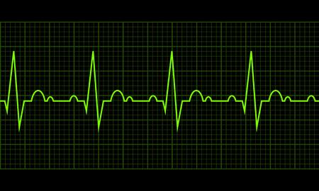Cardiac cycle. Heart beat cardiogram line. Vector illustration eps10. RGB color model
