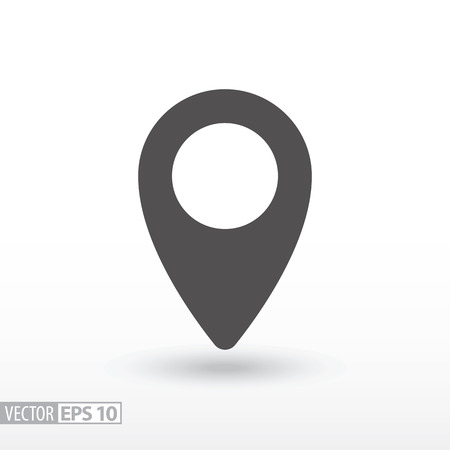 Pin location flat icon. Sign pin location. Vector logo for web design, mobile and infographics. Vector illustration eps10. Isolated on white background.